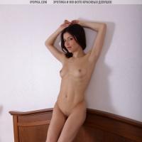 Шатенка в откровенных эротичных позах