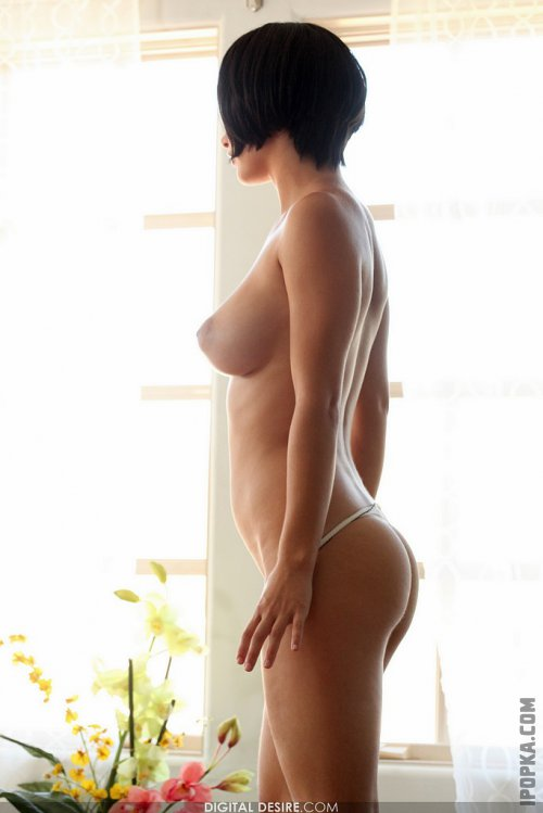 Будоражащая брюнетка с огромным бюстом засветила свою писечку фото