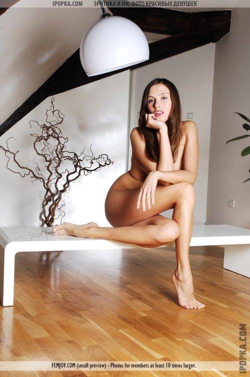 Классная обнаженная девушка с красивым ухоженным телом