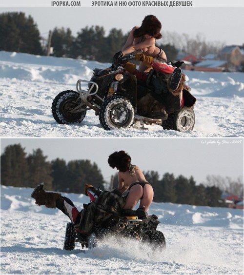 Голые девушки на мотоциклах подборка