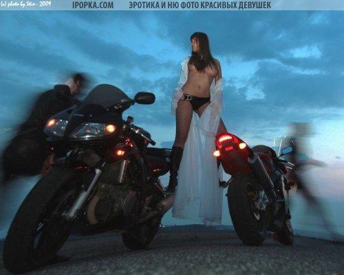 Фото девушек на мотоциклах