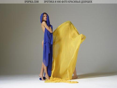 Голые украинки позируют с флагом своей страны