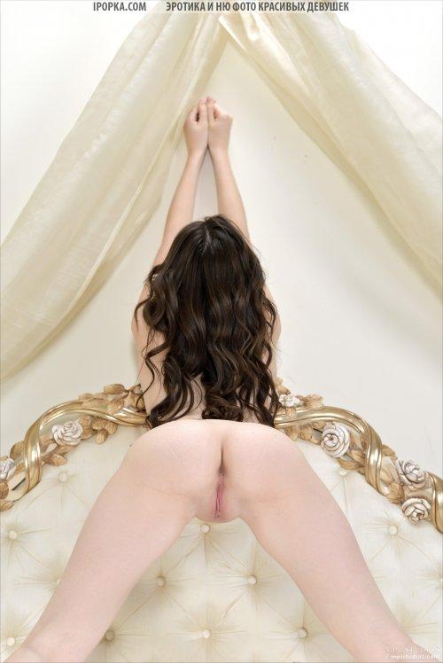 Сексуальная брюнетка скидывает с себя трусики